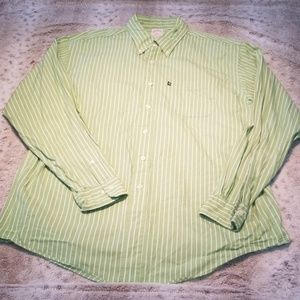 Brooks Brothers Lime Green and White Button Down